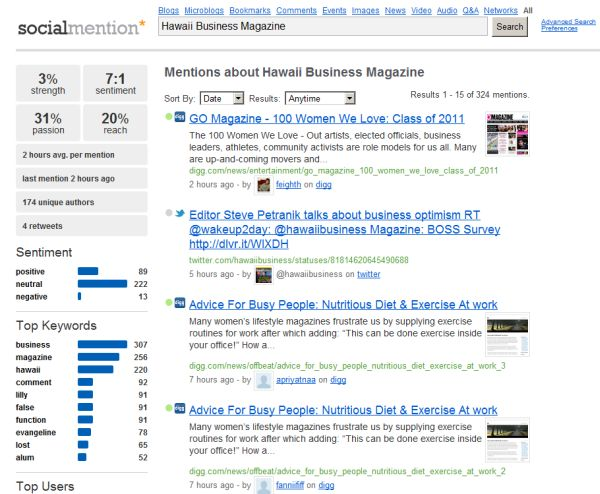 Hawaii Business Magazine on SocialMention.com