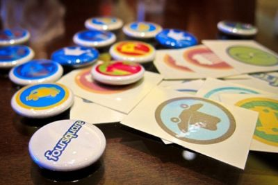 Game mechanics for business with badges