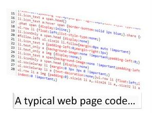 Website code in Php Html